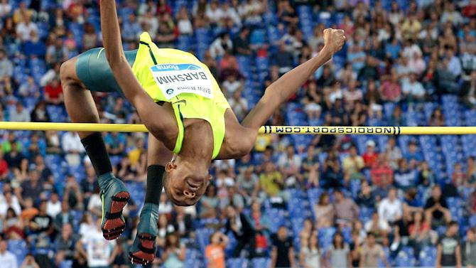 Athletics - High jump world record under threat as Barshim wins in Rome