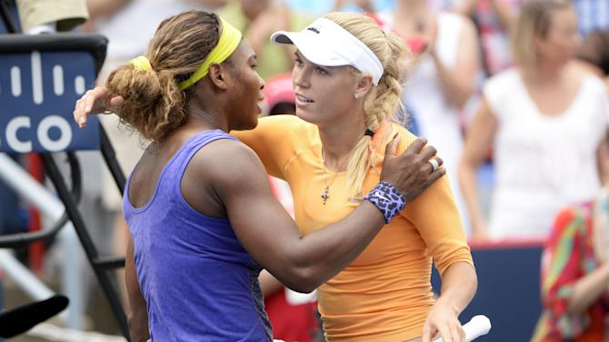 Tennis - Serena beats Wozniacki to set stage for all-Williams semi