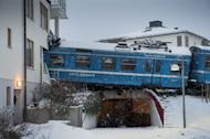 The commuter train derailed into a residential building in Saltsjoebaden, on January 15, 2013
