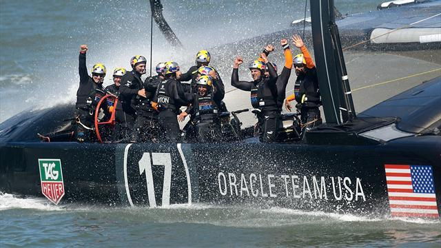 America's Cup - Ainslie inspires remarkable comeback as Oracle retain Cup