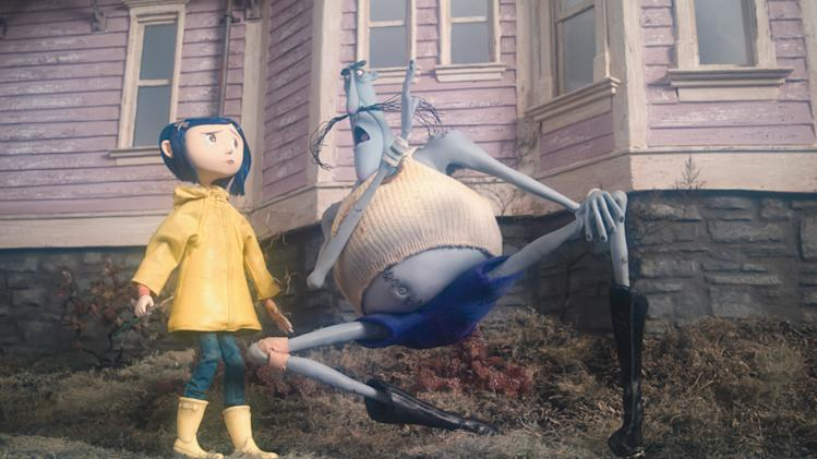 Coraline Production Stills 2009 Focus Features Dakota Fanning Ian McShane