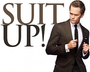 Email Tips From Barney Stinson image barney 3 suit up