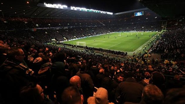 Celtic fans unfurled the banner during a Champions League game with AC Milan at Celtic Park