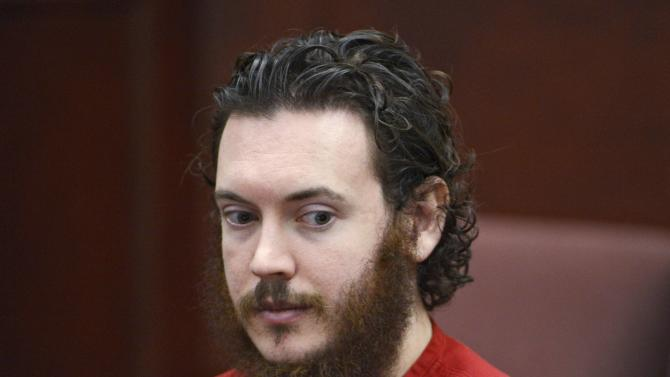 File photo of James Holmes sitting in court for an advisement hearing at the Arapahoe County Justice Center in Centennial