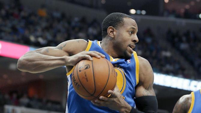 Golden State Warriors' Andre Iguodala gets a defensive rebound in the second half of an NBA basketball game against the Memphis Grizzlies in Memphis, Tenn., Saturday, Nov. 9, 2013. The Grizzlies defeated the Warriors 108-90
