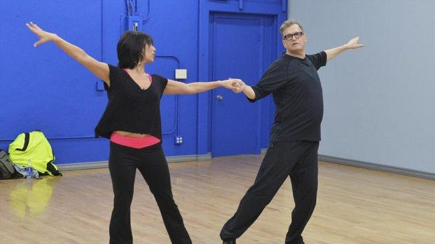 Cheryl Burke & Drew Carey during 'Dancing with the Stars' rehearsal -- ABC