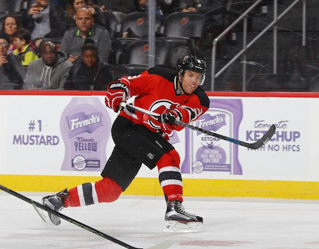 NEWARK, NJ - OCTOBER 28: Taylor Hall #9 of the New Jersey Devils skates against the Chicago Blackhawks at the Prudential Center on October 28, 2016 in Newark, New Jersey. (Photo by Bruce Bennett/Getty Images)