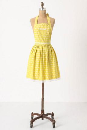 Yellow Polka Dot Apron