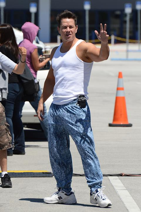 Spotted on set 2012 Mark Wahlberg