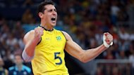 Brazil's men's volleyballers are battling for gold against Russia in London on Day 16