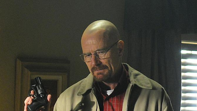 "In this image released by AMC, Bryan Cranston portrays Walter White in a scene from ""Breaking Bad."" James Gandolfini's portrayal of Tony Soprano represented more than just a memorable TV character. He changed the medium, making fellow antiheroes like Walter White and Don Draper possible, and shifted the balance in quality drama away from broadcast television. (AP Photo/AMC, Ursula Coyote)"
