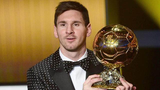 Liga - Messi wins Ballon d'Or for fourth time