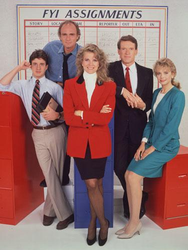 Candice Bergen as a television journalist in Murphy Brown, 1988