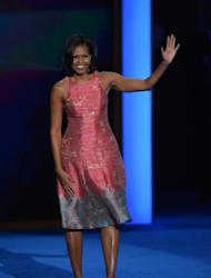 Michelle Obama at the Democratic National Convention, September 4, 2012 -- Getty Images
