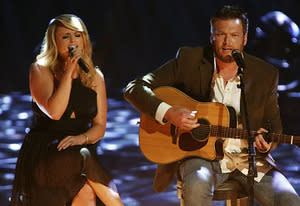 Blake Shelton, Miranda Lambert | Photo Credits: Tyler Golden/NBC/Getty Images