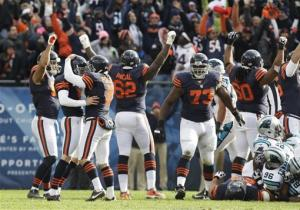Gould's field goal lifts Bears over Panthers 23-22