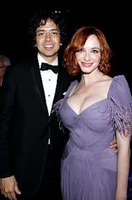 Christina Hendricks, with her husband at the Emmys, is the frequent recipient of