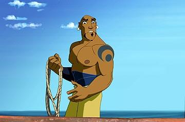 First Mate Kale ( Dennis Haysbert ) in DreamWorks' Sinbad: Legend of the Seven Seas