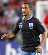 England's Theo Walcott during the International friendly football match between Norway and England at Ullevaal Stadium in Oslo on May 26, 2012. AFP PHOTO / DANIEL SANNUM LAUTEN