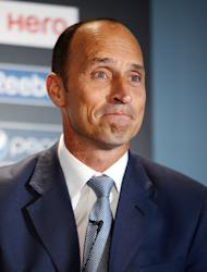 Former England cricket captain Nasser Hussain attends a press conference to launch the 2013 ICC Champions Trophy in central London on October 17, 2012. Former England skippers Ian Botham and Hussain have led the tributes to their late predecessor Tony Greig, who died on Saturday at the age of 66