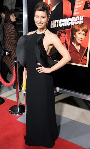PICTURES: Jessica Biel Flashes Sideboob in Backless Dress at Hitchcock L.A. Premiere