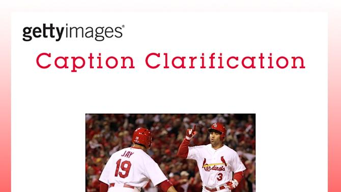CAPTION CLARIFICATION - Washington Nationals v St Louis Cardinals - Game Two