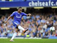 "Shanghai Shenhua's talks with Didier Drogba, seen here in 2010, are continuing ""just as planned"", a report said Wednesday, raising expectations the striker will move to China after announcing his departure from Chelsea"