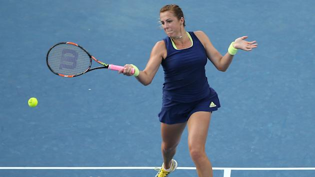 Only one match ran to completion for a second straight day at the Qatar Open, Anastasia Pavlyuchenkova seeing off Jelena Jankovic.