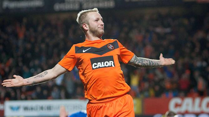 Johnny Russell scored the equaliser before Dundee United went on to win