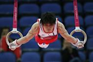 Japan's gymnast Kohei Uchimura competes on the rings during the men's qualification of the artistic gymnastics event of the London Olympic Games. Uchimura has told his team-mates not to obsess about Olympic rivals China, after the two Asian powerhouses disappointed in men's artistic gymnastics qualifying