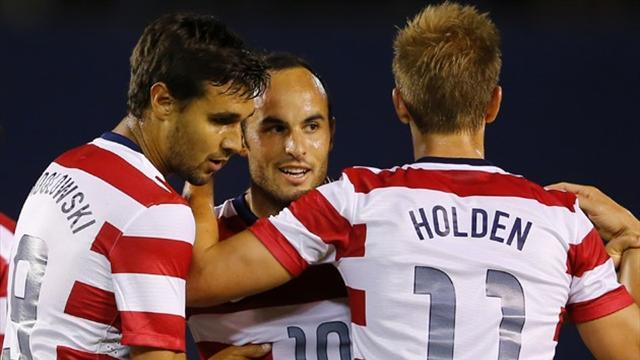 Concacaf Football - Donovan scores twice in triumphant US return