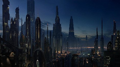 Coruscant is one planet-covering city