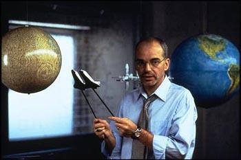 Billy Bob Thornton as Dan Truman, schooling the new recruits in Touchstone's Armageddon