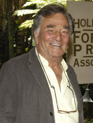 "FILE - In this Aug. 9, 2007 file photo, actor Peter Falk arrives for the Hollywood Foreign Press Association's annual installation luncheon at The Beverly Hills Hotel in Beverly Hills, Calif. Falk, the stage and movie actor who became identified as the squinty, rumpled detective in ""Columbo,"" died Thursday, June 23, 2011 at his Beverly Hills, Calif., home. He was 83. (AP Photo/Chris Pizzello, file)"