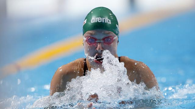 Swimming - Meilutyte rockets to breaststroke championship record