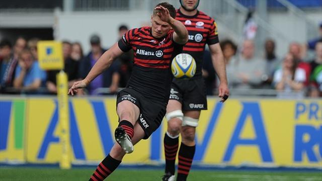 Premiership - Saracens swat aside Harlequins to keep double dream alive