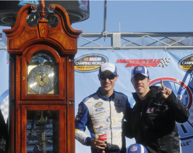 Logano uses restart to win truck race at Martinsville