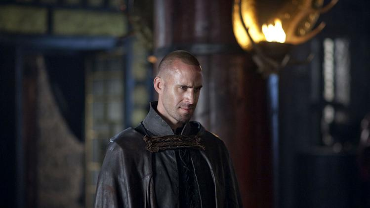 "Joseph Fiennes as Merlin in ""Camelot."""