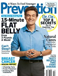 Dr. Oz on the cover of Prevention magazine (Oct. 2012) -- Prevention Magazine