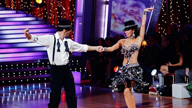 "Melissa Rycroft and Tony Dovolani perform the Cha-Cha-Cha to ""Save the Last Dance for Me"" by Michael Bublé on ""Dancing with the Stars."""