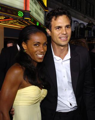 Premiere: Jada Pinkett Smith and Mark Ruffalo at the LA premiere of Dreamworks SKG's Collateral -2004