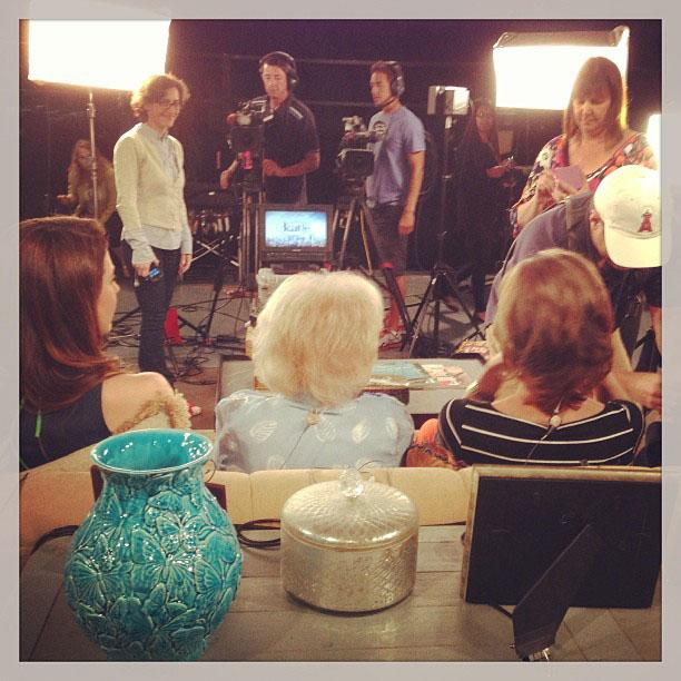 Betty White Yahoo! TV Instagram: Setting up for the live feed with Katie! -Betty #bettywhite #hotlive #hotincleveland #tvland #behindthescenes #setvisit