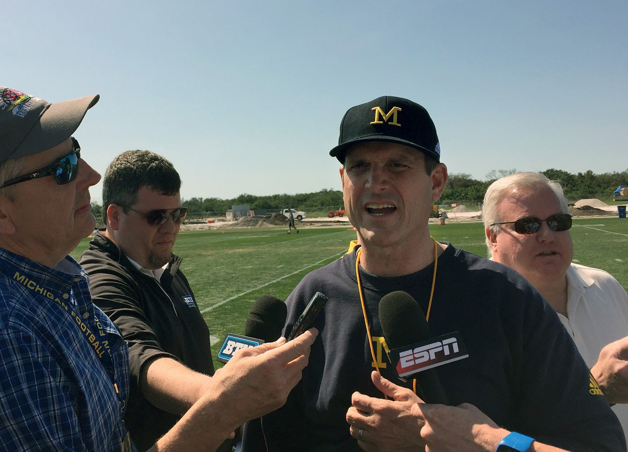 Michigan coach Jim Harbaugh brought his team to Florida for a part of spring practice in 2016. (AP Photo/Ralph Russo, File)