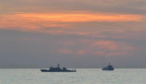 Chinese surveillance ships, pictured off Scarborough Shoal on April 11