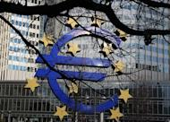 The Euro logo is seen in front of the European Central Bank, in Frankfurt/Main, December 6, 2012. The European Central Bank decided Thursday to leave its main refinancing rate at a historic low of 0.75 percent at its first policy meeting of 2013
