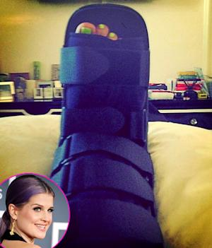 Kelly Osbourne Sprains Her Ankle to Avoid Falling Into a Public Toilet