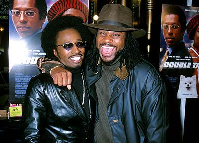 Premiere: Eddie Griffin and Malcolm Jamal Warner at the Hollywood premiere of Touchstone's Double Take - 1/10/2001