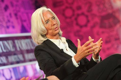 Managing Director of the IMF Christine Lagarde speaks onstage during the FORTUNE Most Powerful Women Summit in Washington, DC, on October 15, 2013
