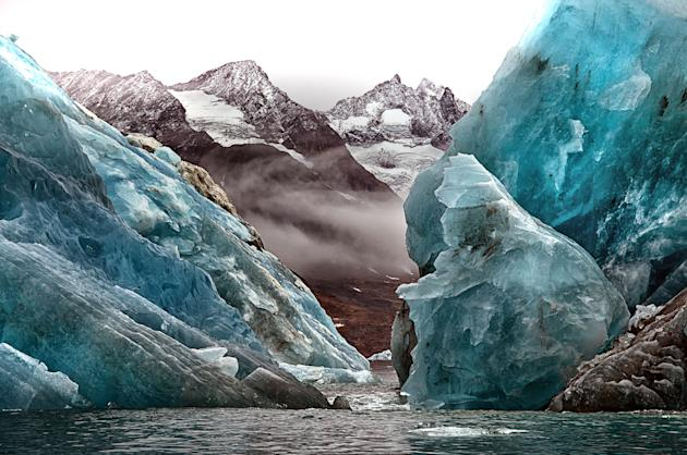 Spectacular: Photographer Tim Vollmer said 'no two icebergs are the same' (Caters)