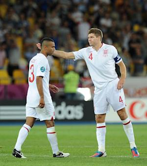 Ashley Cole (left) has been the subject of abuse on Twitter after his shoot-out miss